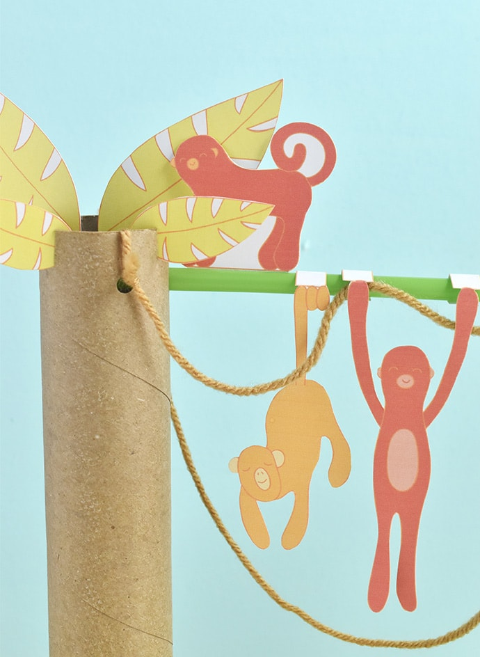 Printable Monkey Diorama Playset