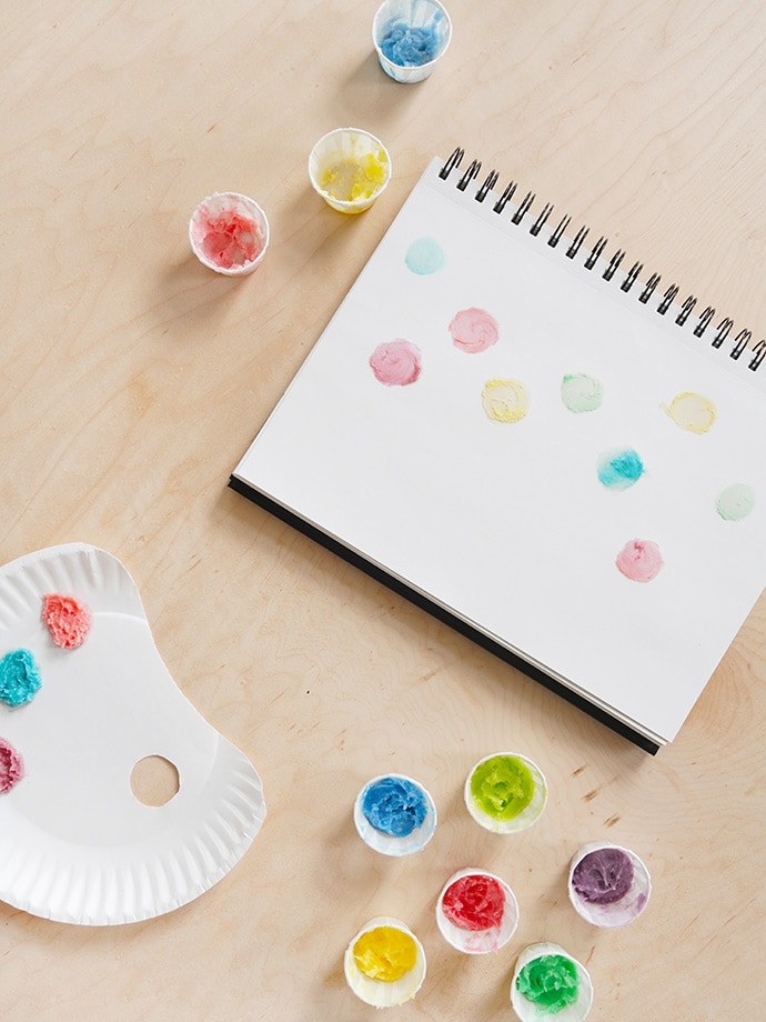 How to Make Coconut Oil Finger Paints