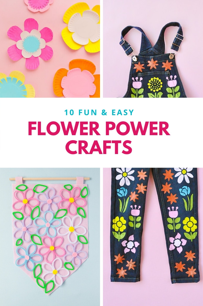 10 Fun & Easy Flower Power Crafts