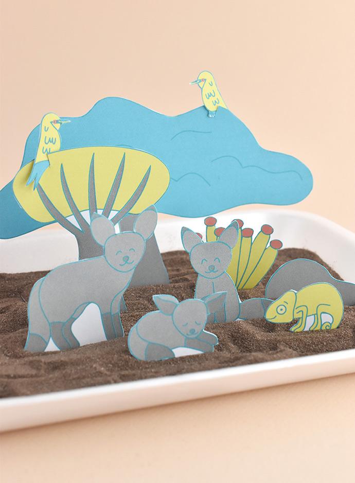Desert Fox Diorama Playset Printable