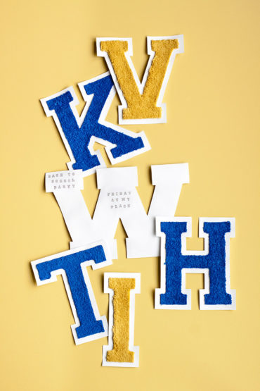 DIY Back-to-School Varsity Letter Invites