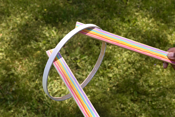 Catch a Cloud Rainbow Ring Toss Game