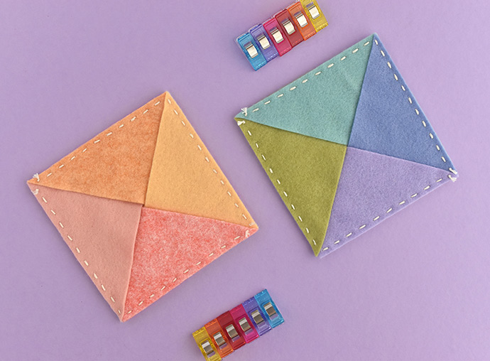 Simple Stitched Felt Triangle Pouch