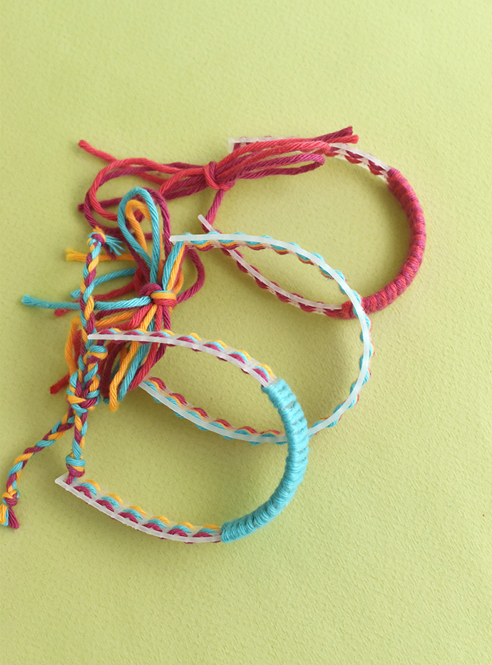 Plastic Canvas Friendship Bracelets