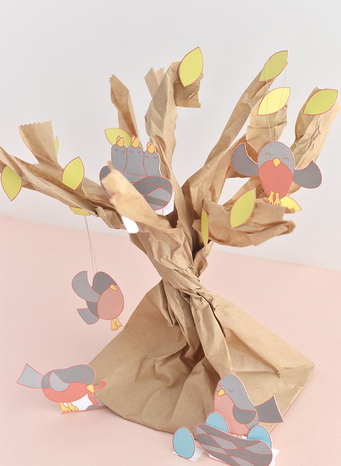 Treetop Robins Printable Diorama Playset