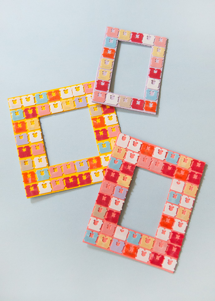 Upcycled Bread Tag Frames