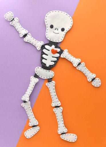 Stitch a Floppy Felt Skeleton