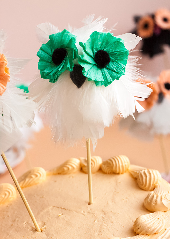 Whimsical Owl Cake Toppers