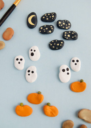 Painted Halloween Beans