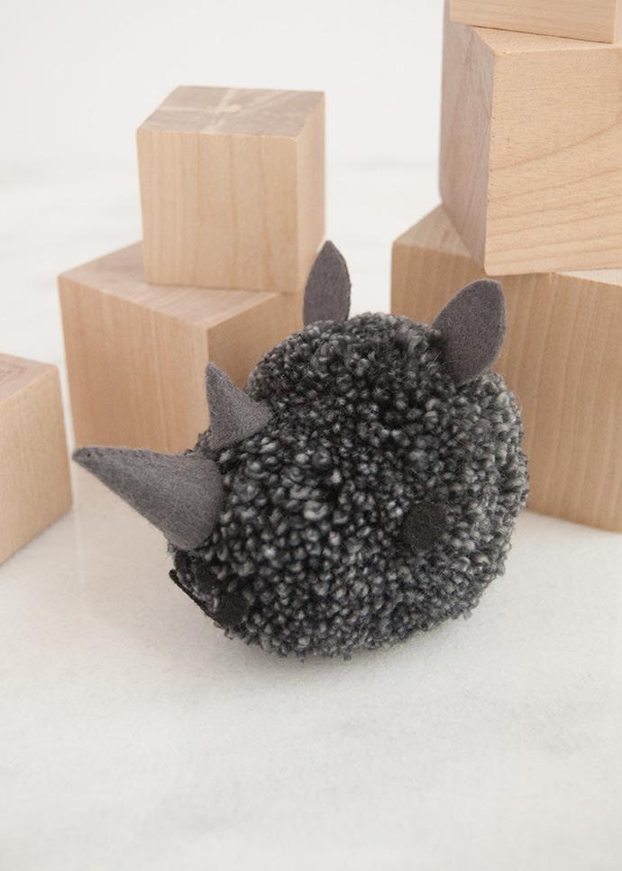 Black Rhino Pom Pom
