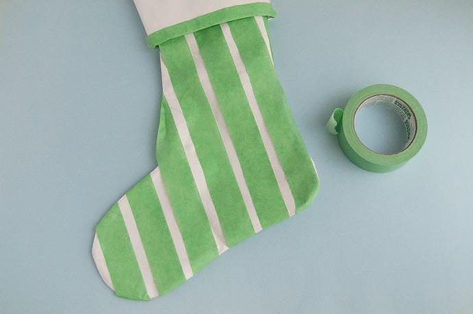 DIY Glitter Christmas Stockings