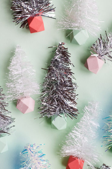 Easy DIY Tinsel Trees