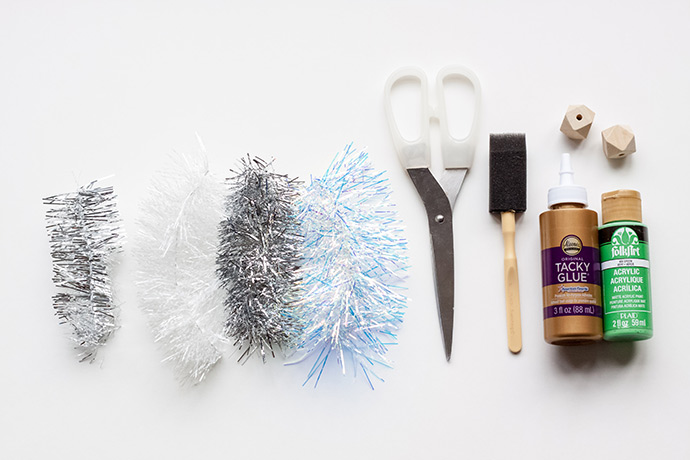 Easy DIY Tinsel Trees