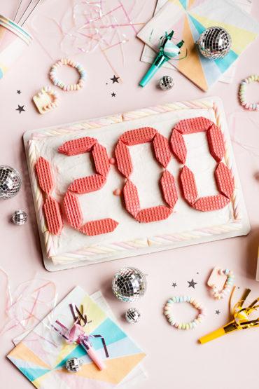 New Year's Eve Digital Clock Cake