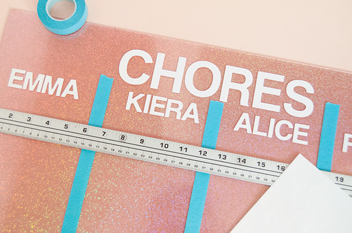 DIY Holographic Glitter Chore Chart