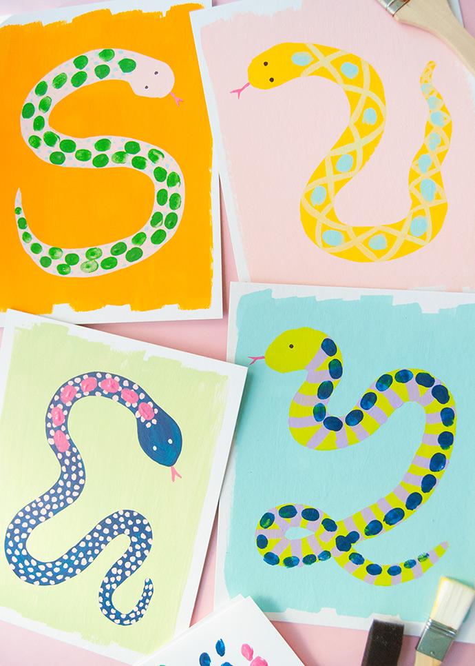 Snake Thumbprint Art