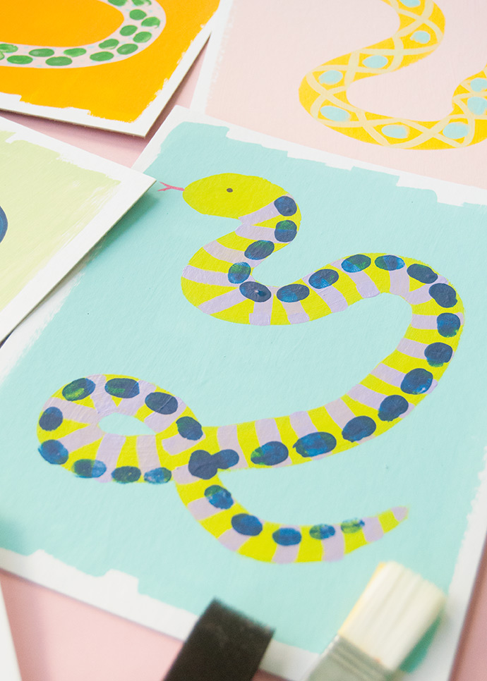 Snake Thumbprint Art