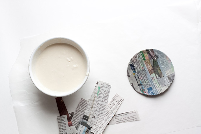 Paper Mache Fortune Cookie Surprise