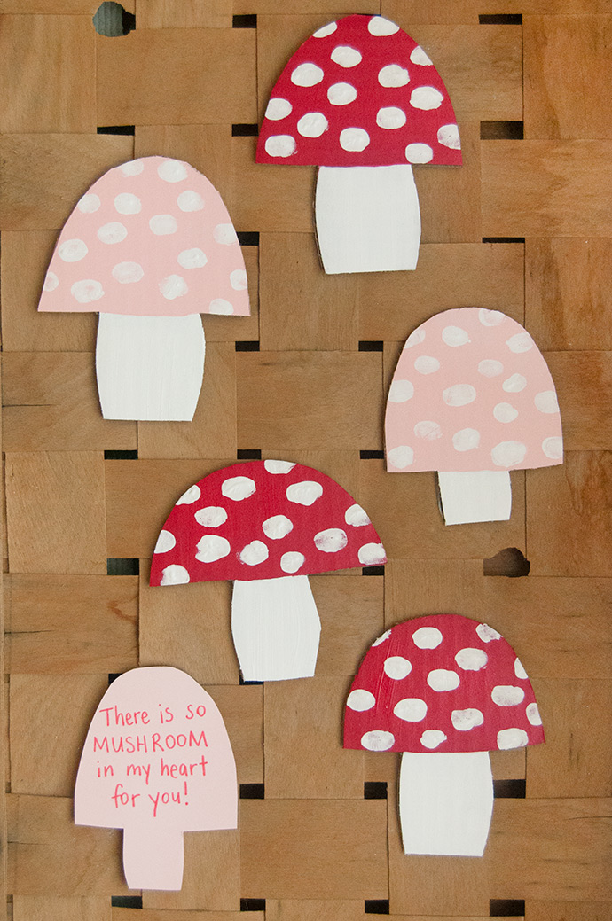 Fingerprint Mushroom Valentines