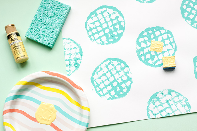 DIY Waffle Stamp Placemats