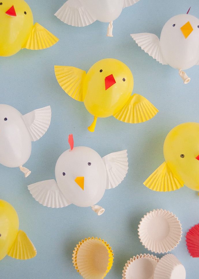Balloon Chicks and Hens for Easter