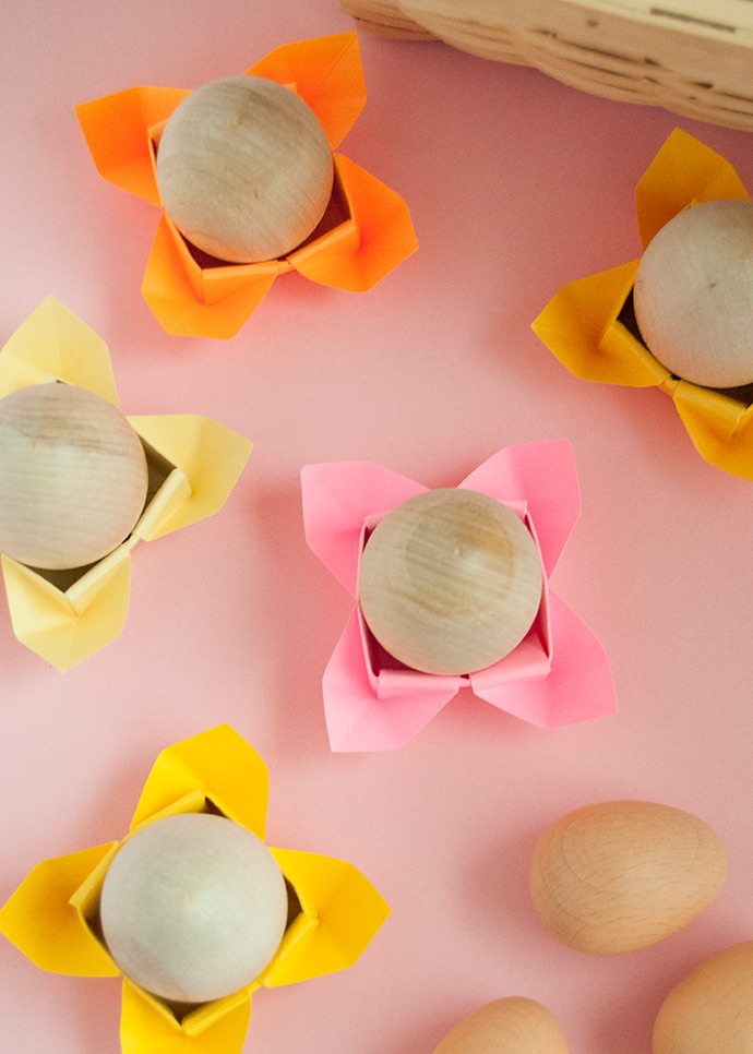 Origami Easter Egg Cups