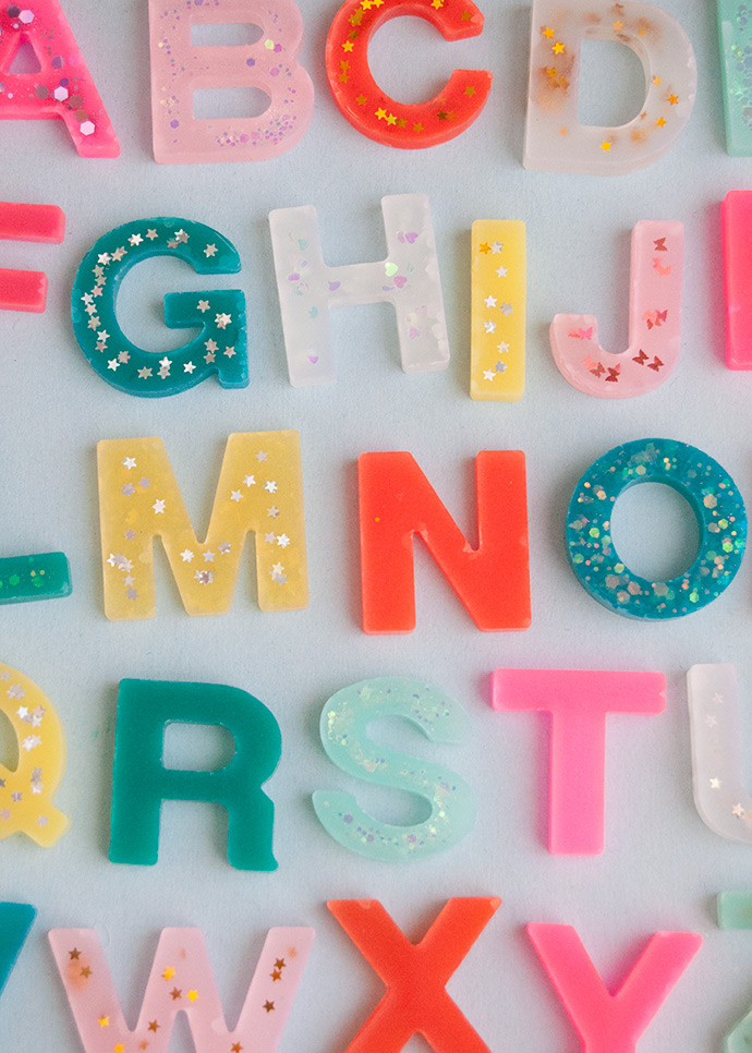 How to Make a Resin Alphabet Set Without Resin