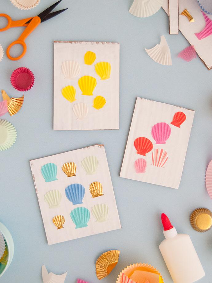 Cupcake Paper Sea Shell Art