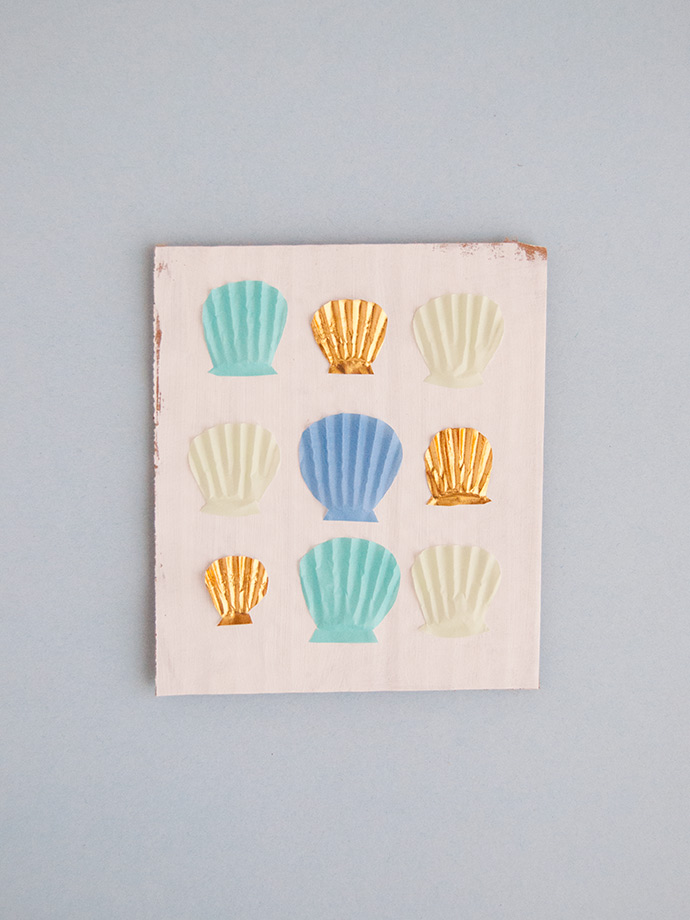 Cupcake Liner Sea Shell Art