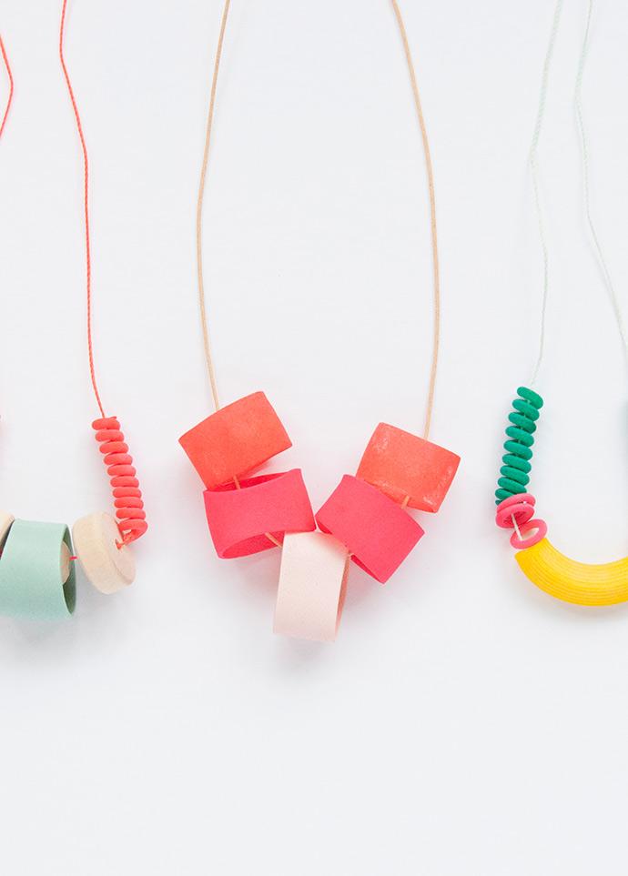 Modern Macaroni Necklaces