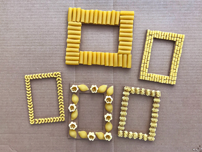 Painted Pasta Frames