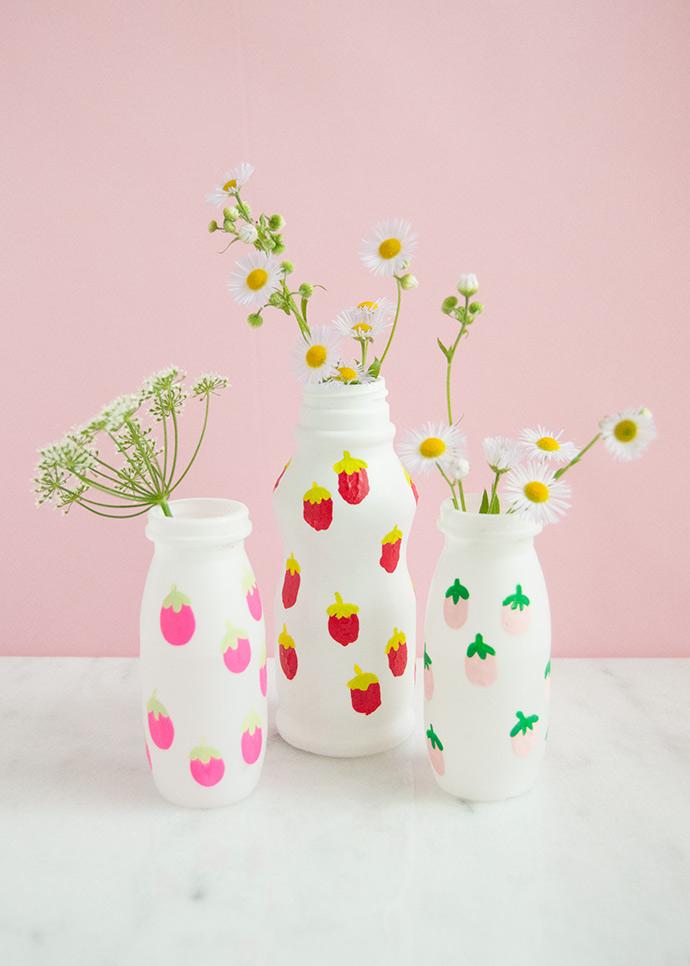 Upcycled Fingerprint Art Vases