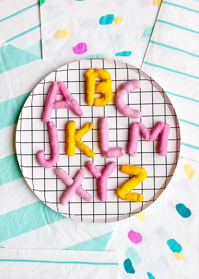 Candy Pretzel Alphabet