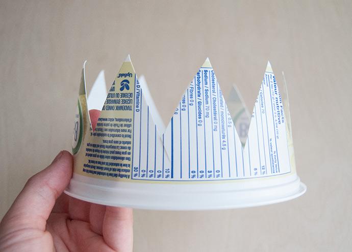 Coroas de banheira de plástico recicladas