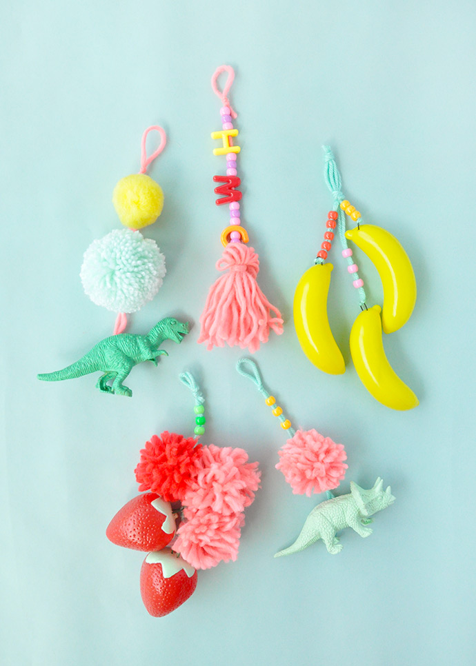 DIY Backpack Charms for Back-to-School