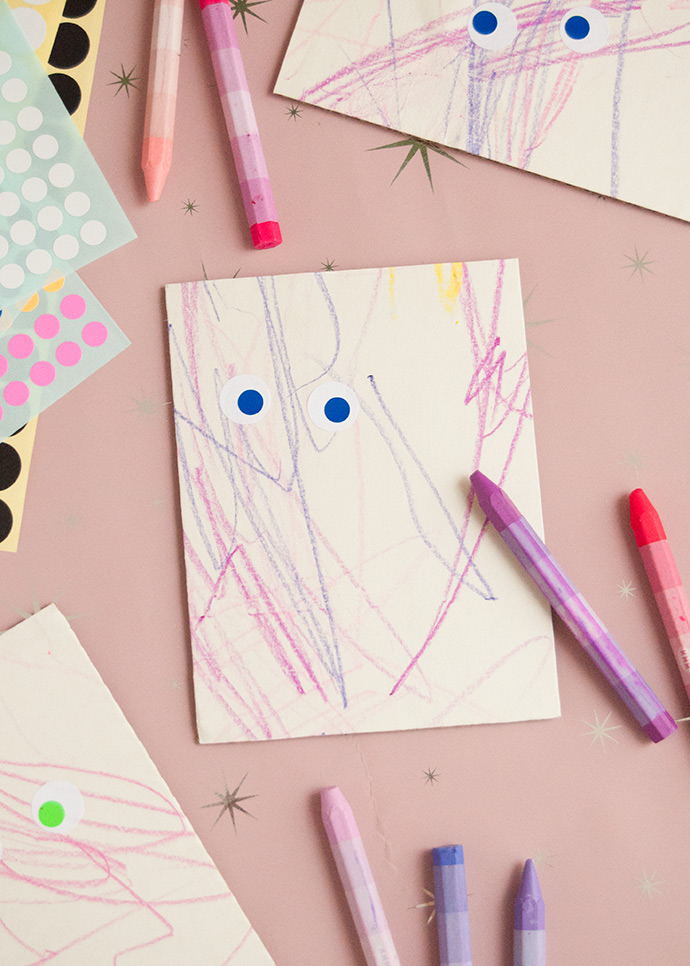 Halloween Toddler Activity: Scribble Monsters