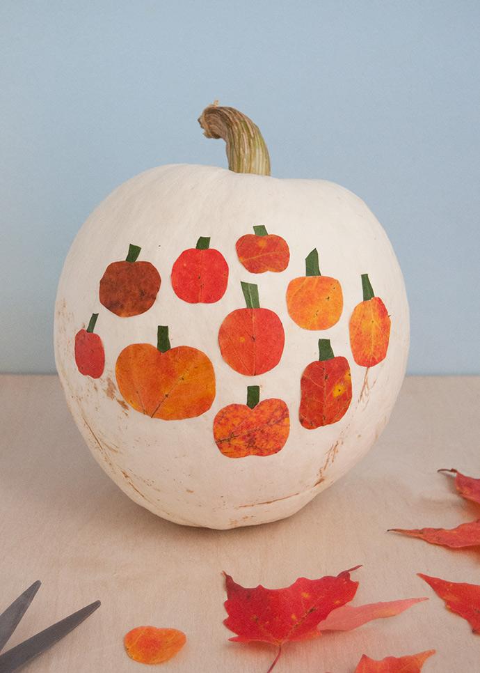 Leaf Art Pumpkins
